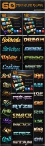 GraphicRiver_60_Premium_3D_Text-Effect_Styles_Bundle